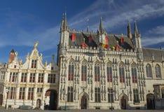 A câmara municipal em Bruges (Bélgica) imagens de stock