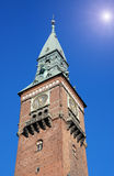 Câmara municipal em Copenhaga Fotografia de Stock Royalty Free