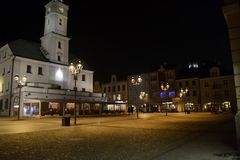 Câmara municipal em Gliwice, Polônia Fotos de Stock Royalty Free