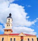 Câmara municipal em Kamenets-Podolsky, Ucrânia foto de stock