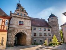 Câmara municipal em Marktbreit, Alemanha fotografia de stock