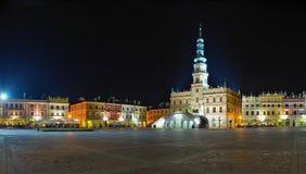 Câmara municipal em Zamosc fotos de stock