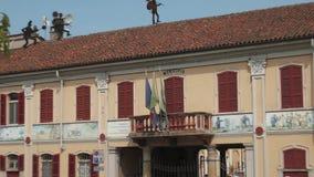 Câmara municipal, Gravellona Lomellina, picovolt, Itália video estoque