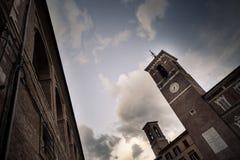 Câmara municipal italiana na cidade de Fabriano Imagem de Stock Royalty Free