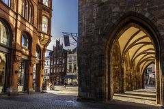 Câmara municipal Minden, Alemanha Fotografia de Stock Royalty Free