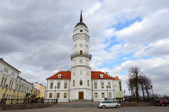 A câmara municipal, Mogilev, Bielorrússia fotos de stock royalty free