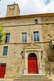 Câmara municipal, Murviel-les-Beziers, Languedoc Roussillon, França Imagem de Stock Royalty Free
