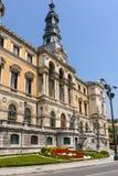 Câmara municipal na cidade de Bilbao fotografia de stock
