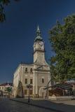 Câmara municipal na cidade de Kezmarok Eslováquia Imagem de Stock Royalty Free