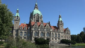 Câmara municipal Neues Rathaus de Hannover video estoque