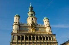 """Câmara municipal no """"de PoznaÅ, Polônia imagens de stock royalty free"""