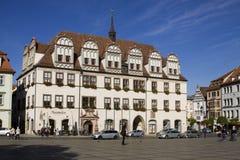 A câmara municipal no mercado em Naumburg. Saxony-Anhalt, G fotografia de stock
