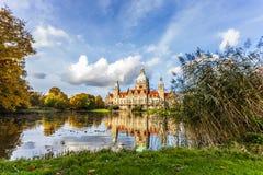 A câmara municipal nova da cidade de Hannover foto de stock royalty free