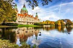 A câmara municipal nova da cidade de Hannover imagem de stock royalty free