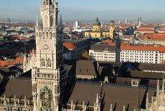 Câmara municipal nova de Munich Foto de Stock Royalty Free