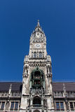 Câmara municipal nova de Munich em Marienplatz, Alemanha, 2015 foto de stock