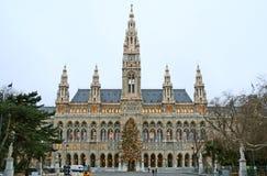 Câmara municipal nova de Viena fotos de stock