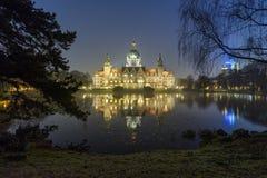 Câmara municipal nova em Hanover, Alemanha Fotos de Stock Royalty Free