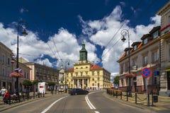 A câmara municipal nova em Lublin imagem de stock