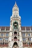 Câmara municipal nova em Munich Imagens de Stock Royalty Free
