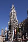Câmara municipal nova - Munich Foto de Stock Royalty Free