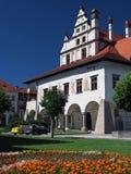 Câmara municipal original em Levoca foto de stock