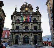 Câmara municipal, Pamplona, Espanha foto de stock