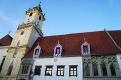 A câmara municipal velha, Bratislava, Slovakia Imagem de Stock