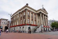 Câmara municipal velha da cidade de Gementee Groningen de Groningen imagem de stock royalty free