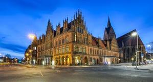 Câmara municipal velha de Hannover, Alemanha fotografia de stock
