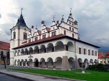 Câmara municipal velha de Levoca, Slovakia fotos de stock