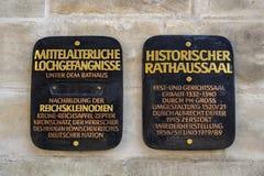 Câmara municipal velha de Nuremberg, Alemanha, 2015 Imagem de Stock