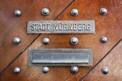 Câmara municipal velha de Nuremberg, Alemanha, 2015 Foto de Stock Royalty Free