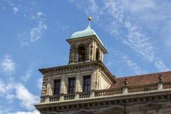 Câmara municipal velha de Nuremberg, Alemanha, 2015 Imagens de Stock