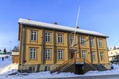 Câmara municipal velha de Tromso Fotos de Stock Royalty Free