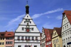 Câmara municipal velha do der Tauber do ob de Rothenburg Foto de Stock Royalty Free