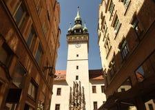 Câmara municipal velha em Brno, república checa Fotos de Stock Royalty Free