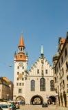 A câmara municipal velha em Munich, Alemanha Imagens de Stock