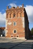 Câmara municipal velha em Sandomierz fotografia de stock