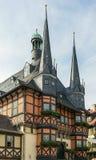 Câmara municipal Wernigerode, Germanl Fotos de Stock