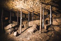 Câmara velha em uma mina de prata, Tarnowskie cruento, local da herança do UNESCO foto de stock