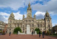 Câmaras da cidade de Glasgow fotografia de stock royalty free