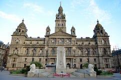 Câmaras da cidade em George Square, Glasgow, Escócia Foto de Stock
