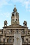 Câmaras da cidade em George Square, Glasgow, Escócia Imagem de Stock
