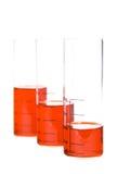 Câmaras de ar com líquido vermelho Fotografia de Stock Royalty Free