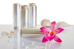 Câmaras de ar da folha para o cabelo de tingidura Foto de Stock Royalty Free