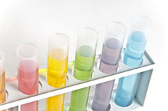 Câmaras de ar de teste da química Imagem de Stock Royalty Free