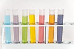Câmaras de ar de teste da química foto de stock