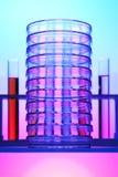 Câmaras de ar de teste e pratos de petri Fotografia de Stock Royalty Free