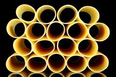 Câmaras de ar do cannelloni - vista empilhada Imagem de Stock